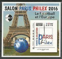 Bloc CNEP N° 72 Salon Paris Foot Ball Et L'€urope 2016 - CNEP