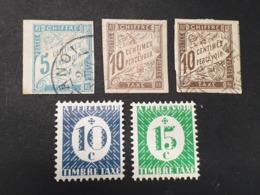 """Colonie Française """"TAXE""""  N° 18/19x2  Avec Oblitération D'Epoque/Neuf *  TB - Postage Due"""