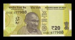 India 20 Rupees Gandhi 2019 Pick New SC UNC - India