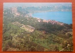 CASTEL GANDOLFO Panorama Giardini Vaticano Palazzo Papale Villa Barberini CARTOLINA  Viaggiata 1996 - Italie