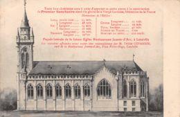 54-LUNEVILLE FACADE LATERALE DE LA FUTURE EGLISE BIENHEUREUSE JEANNE D ARC -N°T1132-A/0009 - Luneville