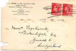 Cartolina Postale Con Bolli Perfin( 222 ) - 1902-1951 (Kings)