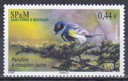 St. Pierre Und Miquelon 2007 Tiere Fauna Animals Vögel Birds Oiseaux Aves Uccelli Waldsänger Wood-Warblers, Mi. 982 ** - Unused Stamps