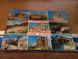 148740 GRECIA GREETINGS FROM ATHENS - Grecia