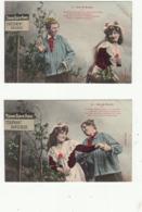 5 Cartes Série-Fantaisies-COUPLES-SUR LA ROUTE-TBE- - Couples