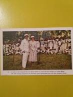 (G). CARTE ILLUSTREE :  REINE ASTRID, Le Roi Léopold III Et La Reine Astrid Au Cours De Leur Voyage Au Congo Belge. - Familles Royales