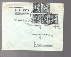 NOODSTEMPEL Gennep 4.7.1945 Aardewerkfabriek Arts Milsbeek-Ottersum (FH-52) - 1891-1948 (Wilhelmine)