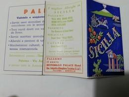 8203 Pieghevole Tascabile Pubblicitario Sicilia Anni '50 - Dépliants Turistici