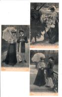 6 Cartes Série-Fantaisies-Couples - FLIRT AU CHATEAU-  TBE - Couples
