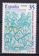 "Spanien: 2000,** Mi: 3529 Kloster Santa Maria De Montserrat ( Holzschnitt ). Kolophon Des "" Missale Benedictum "" - Abbayes & Monastères"