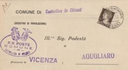 LETTERA 1932 C.10 TIMBRO CASTELLINA IN CHIANTI SIENA  (IX1386 - Storia Postale