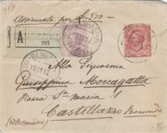 ASSICURATA 1912 10+50 TIMBRO BENGASI - COLONIE ITALIANA - CIRENAICA-COMANDO DELLA BRIGATA PIEMONTE (IX1392 - 1900-44 Vittorio Emanuele III