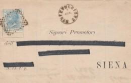 LETTERA 1870 C.20 TIMBRO SIENA MONTEPULCIANO (IX1215 - Marcophilia