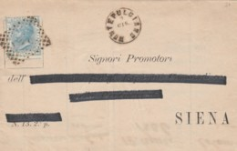 LETTERA 1870 C.20 TIMBRO SIENA MONTEPULCIANO (IX1215 - 1861-78 Vittorio Emanuele II