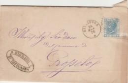 LETTERA 1876 C.10 TIMBRO SINALONGA SIENA (IX1217 - 1861-78 Vittorio Emanuele II