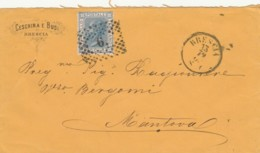 LETTERA 1870 C.20 TIMBRO MANTOVA BRESCIA (IX1224 - 1861-78 Vittorio Emanuele II