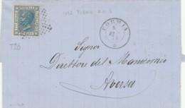 LETTERA 1875 20 C. TIMBRO FORMIA AVERSA (IX1226 - 1861-78 Vittorio Emanuele II