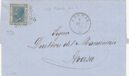 LETTERA 1875 20 C. TIMBRO FORMIA AVERSA (IX1226 - Storia Postale