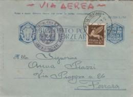 BIGLIETTO POSTALE FRANCHIGIA PM61 +50 C. PA -ARMI E CUORI -1943 (IX1234 - 1900-44 Vittorio Emanuele III