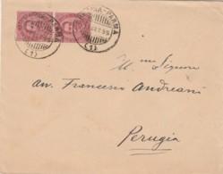 LETTERA 1895 2X10 RARO TIMBRO AMBULANTE BRESCIA PARMA -CAMERA DEI DEPUTATI (IX1332 - 1878-00 Umberto I