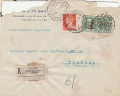 RACCOMANDATA RSI 1944 (CATTIVO STATO) ESPRESSO 1,25 SS (IX1281 - 4. 1944-45 Repubblica Sociale