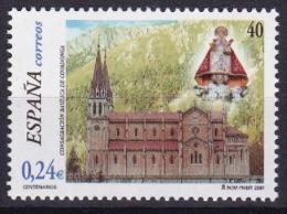 Spanien: 2001.** Mi:3650 Basilika Mit Marienfigur, 100. Geburtstag Der Einweihung Der Basilika Von  Covadonga - Eglises Et Cathédrales