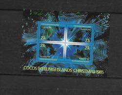 O) 1985 COCOS ISLANDS - KEELING, CHRISTMAS - STAR LR - STAR LL - STAR UR - STAR UL, MNH - Cocos (Keeling) Islands