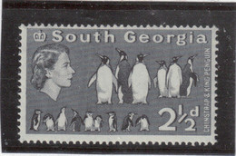 M10 - SOUTH GEORGIA - Yvert 12 ** MNH De 1963 - FAUNE - MANCHOTS - - Géorgie Du Sud