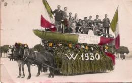 CT-02971- FOTO CARTOLINA-CARRO FESTEGGIAMENTI ANNO 1930-TRICOLORE-BARCA-NON VIAGGIATA - Anno Nuovo
