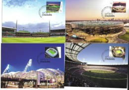 STADE OLYMPIQUE FOOTBALL RUGBY BASEBALL - JEUX OLYMPIQUES - OLYMPICS GAMES STADIUM  - 4 CP AUSTRALIE - STADIO ESTADIO - Cartes Postales