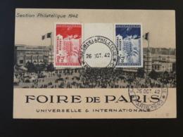 Carte Postcard Foire De Paris 1942 Affr. 566B Légion Tricolore - Guerre De 1939-45