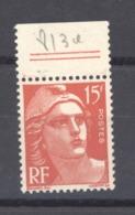 France  :  Yv  813a  ** Variété: Type II - Curiosités: 1945-49 Neufs
