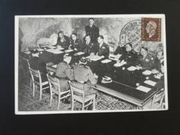Carte Capitulation De L'Allemagne Salle De La Rédition Reims 51 Marne 1945 - Guerre De 1939-45