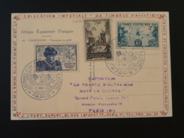 Carte De L'AEF (femme Nue Cameroun) Exposition La France D'Outre Mer Dans La Guerre Paris 1945 - Guerre De 1939-45
