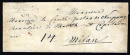 LETTRE EN PROVENANCE DE HOLLABRUNN - BASSE AUTRICHE - NIEDERÖSTEREICH - A GUSTAV DE NEIPPERG - - ...-1850 Prefilatelia