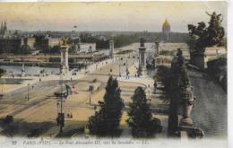 AK 0332  Paris - Le Pont Alexandre III Vers Les Invalides Um 1910 - Bruggen