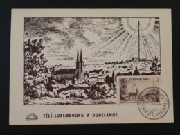Carte Maximum Card Cathédrale De Dudelange Luxembourg 1954 - Iglesias Y Catedrales