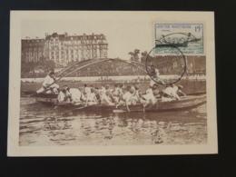 Carte Maximum Card Joutes Nautiques Sea Jousting Givors 69 Rhone 1958 - Rudersport