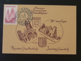 Carte Maximum Card Cathédrale De Rouen Foire Nationale Jumelage Philatélique Avec Juvisy 1960 - Eglises Et Cathédrales