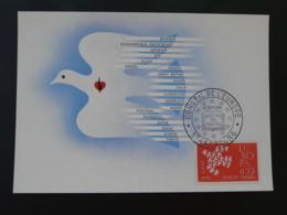 Carte Maximum Card Conseil De L'Europe Strasbourg Europa 1961 - Europa-CEPT