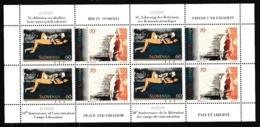 1995 Slovenia EUROPA CEPT EUROPE 4 Serie Di 2 Valori In Minifoglio MNH** Minisheet - Europa-CEPT