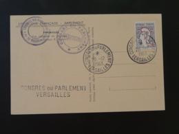 Carte Philatélique Congrès Du Parlement Versailles 1963 - 1961-....