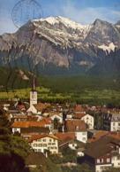 Bad Ragaz - Mit Falknis - Formato Grande Viaggiata – E 13 - Cartoline