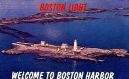 Boston Light - Welcome To Boston Harbor - Formato Piccolo Viaggiata Mancante Di Affrancatura – E 13 - Cartoline