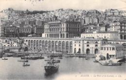 Afrique-Algérie- ALGER Le Port Et La Casbah (Typographie Lithographie Jourdan) Voir Description (LL 9 ) *PRIX FIXE - Algiers