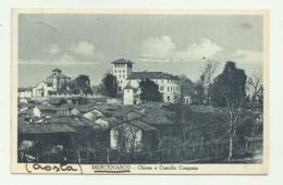 MERCENASCO - CHIESA E CASTELLO COMPANA 1937   VIAGGIATA FP - Andere