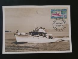 Carte Maximum Card Bateau De Pêche Sportive Polynésie Française 1966 - Cartes-maximum