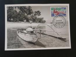 Carte Maximum Card Bateau Pirogue Polynésie Française 1966 (ex 2) - Cartes-maximum