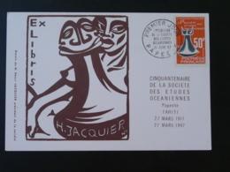 Carte Maximum Card Société Des Etudes Océaniennes Polynésie 1967 - Cartes-maximum