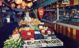 Farmers Market - Los Angeles - California - Color Carlo Amrino - Formato Piccolo Viaggiata – E 13 - Cartoline